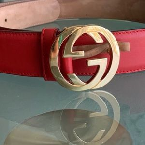 Authentic Gucci red belt 95